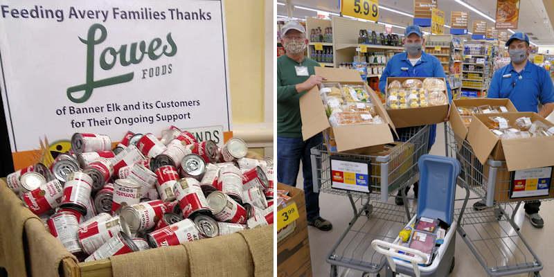 Feeding Avery Families Food Donations